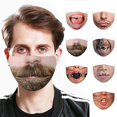 Adult Funny And Exaggerated Facial Expression Mask