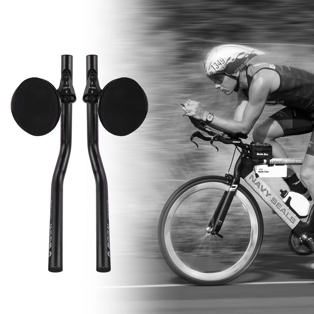 Carbon Fiber TT Triathlon Aero Bar road Bike Racing rest Handlebar Aerobar 31.8