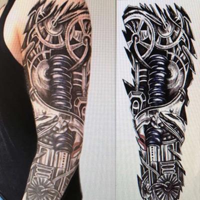 Brazo Completo Temporal Impermeable Gran Calavera Old School Tatuaje