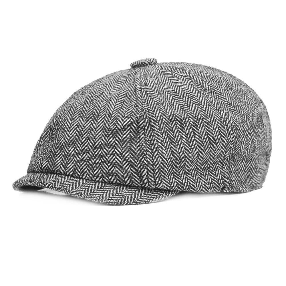 Vintage Newsboy Cap Men Women Fashion Hats Plaid Cotton Beret Flat Cap Driver Retro Soft Boina Casual Hats