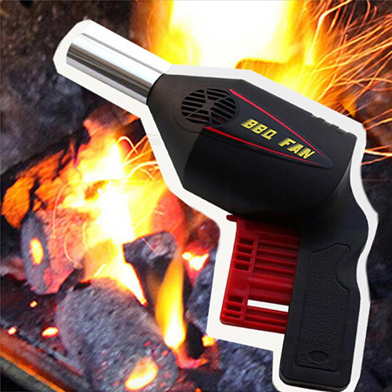 Lighter BBQ Fan Handheld Grill Barbecue Charcoal Coal Grilling Fire Fan Tool