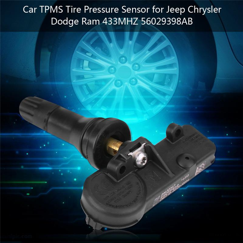 4Pcs Car TPMS Tire Pressure Monitoring System Sensor for Jeep Chrysler Dodge Ram 433MHZ 56029398AB