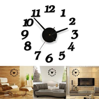 Diy Wall Clock 3D Decoration Sticker Home Office Decor