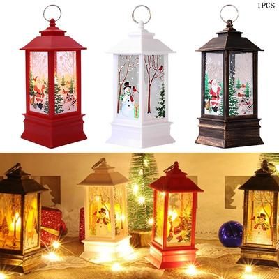 Santa Claus Home Decor LED Light Lamp Hanging Lantern Christmas Decoration
