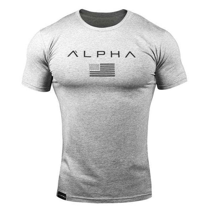 Alphalete Alpha Men/'s T-Shirt Gym Fitness Training Top Muscle Long Sleeve Tee Uk
