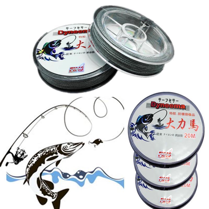 80//45m Strong Dyneema Fishing Line Super Power Fish Lines Wire PE Nylon Li xDnAE