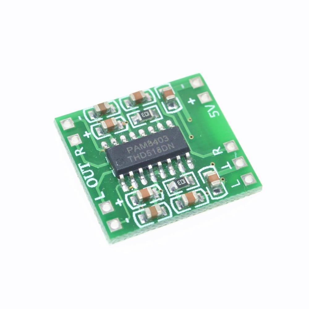 Digital amplifier board 2pcs low power 2*3w efficient USB amplifier board  2 5-5v class d digital module PAM8403
