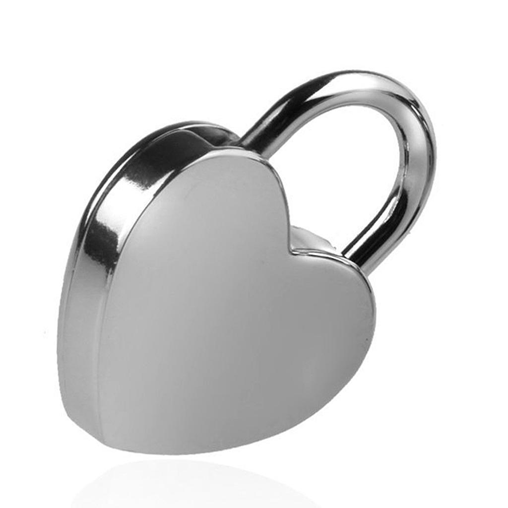 Herzform Vorhängeschloss mit Schlüssel Gepäck Tagebuch Box Lock Silber L