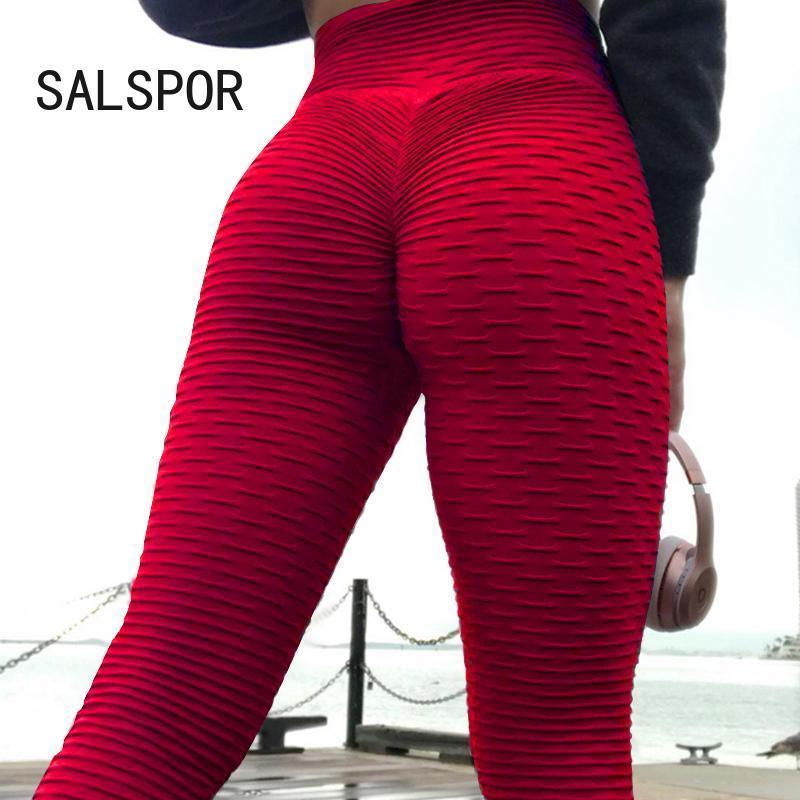 Womens Push Up Sports Leggings High Waist Yoga Pants Fitness Pocket Gym Trousers
