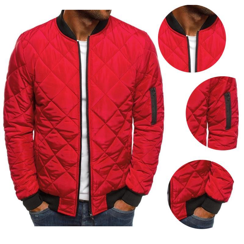 Men/'s Winter Lightweight Packable Stand Collar Coat Bomber Puffer