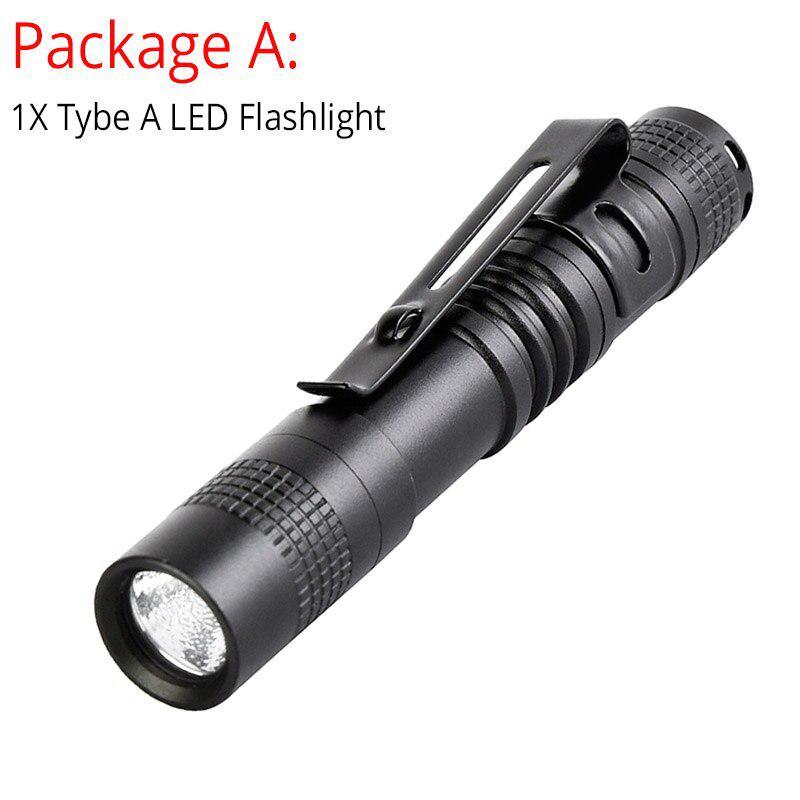 Small Portable Led Flashlight 20000LM Mini Night Walk Aluminum Alloy Torch DI