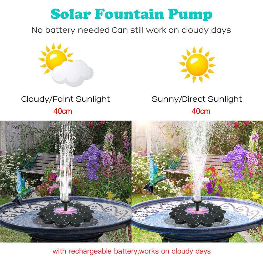 Small Solar Powered Bubbler Sprayer Kit,Free Standing Floating Birdbath Water Pumps for Garden Patio Pond and Pool Solar Bird Bath Fountain