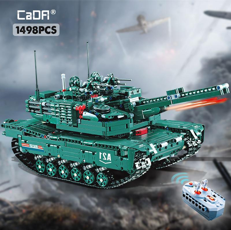 Cada 1498cps Rc Military M1a2 Tank Model Building Blocks Bricks Remote Control Car Compatible Ww2 Technic Toys For Kids Buy At A Low Prices On Joom E Commerce Platform