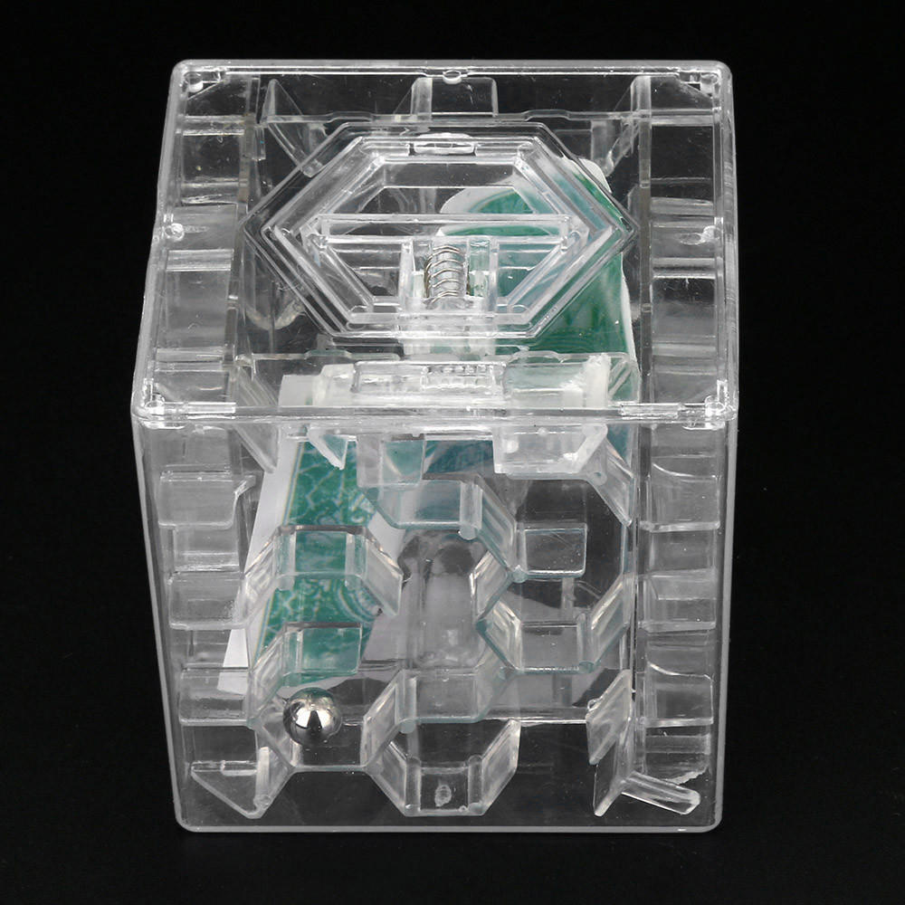 3D Cube puzzle money maze bank saving coin collection case box fun brain ga Fg
