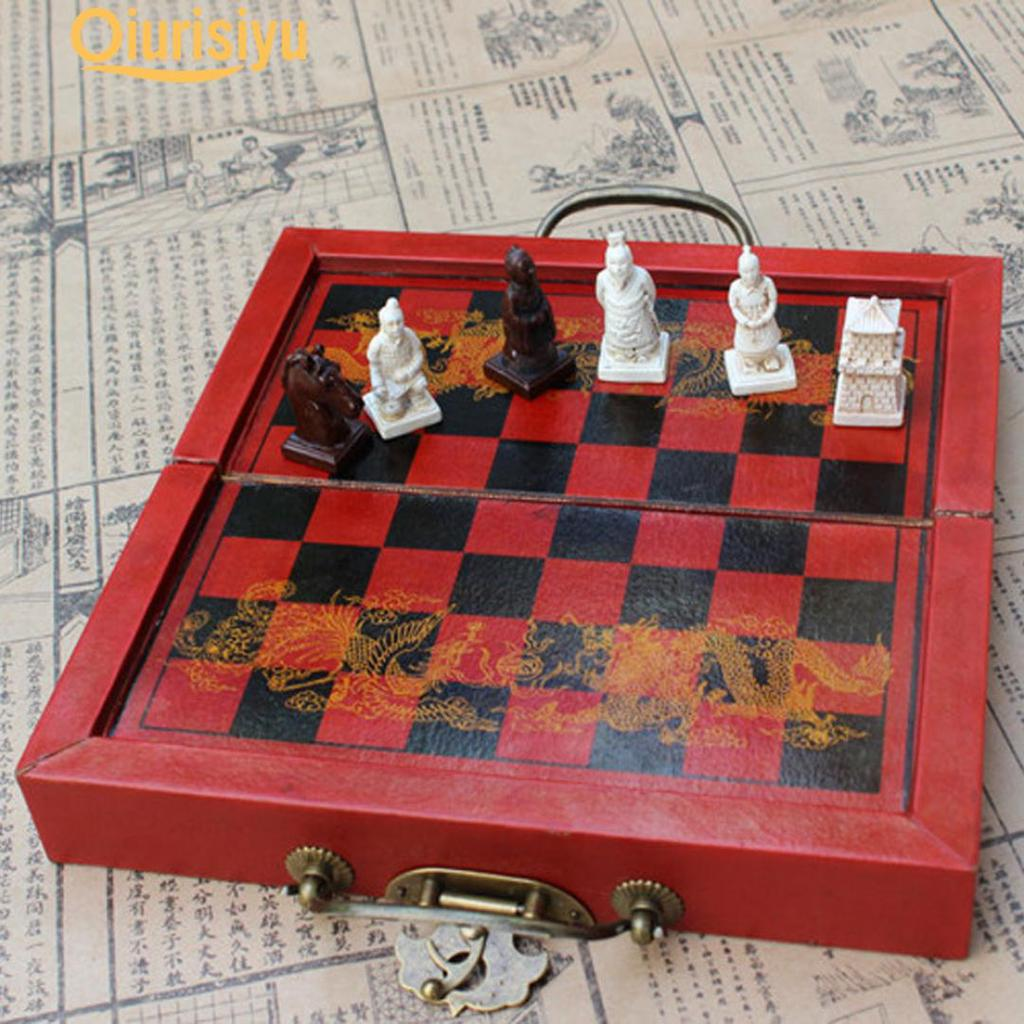 Chess Only 32 Pieces Qing Dynasty Figure New Chinese Chess Set Medium Size