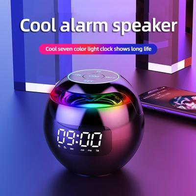 Smart Alarm Clock LED Digital Clock Smart Bluetooth Speaker Bluetooth 5.0 FM Radio Colorful Light