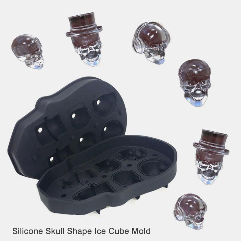 3D Skull with Guitar mould chocolate cake decorating tools DIY baking