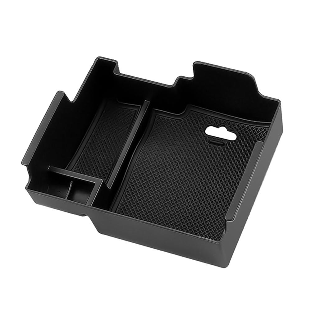 Longzhimei for Ford Explorer 2013-2019 Console Storage Tray ABS Material and PVC Latex Non-slip Mat Car Central Armrest Storage Box Tidying Organizer