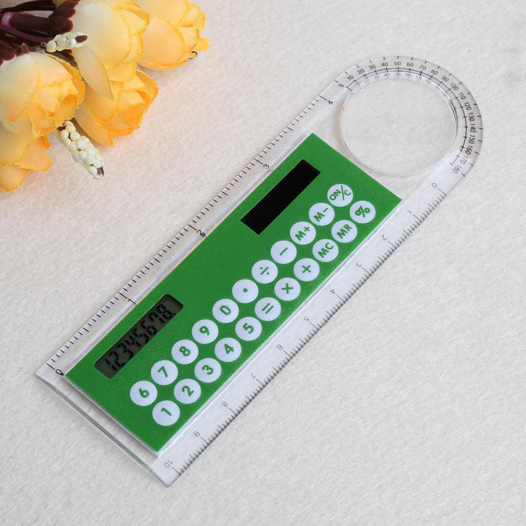 Calculator Ruler Fashion Multifunction 20cm School Office Student Stationery
