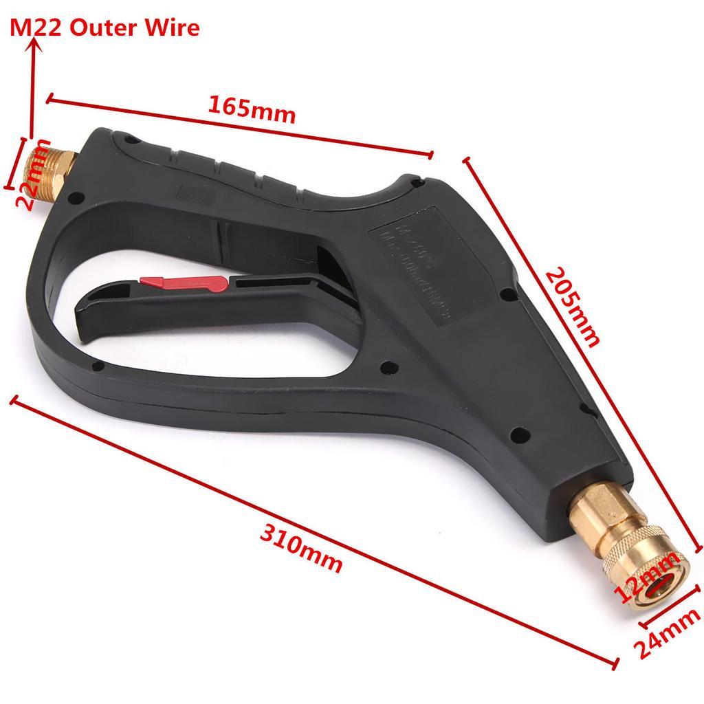 M22 Hochdruck Waschmaschine Gun Sprühlanze + 5 Jet-Spray-Düse Tipps ...