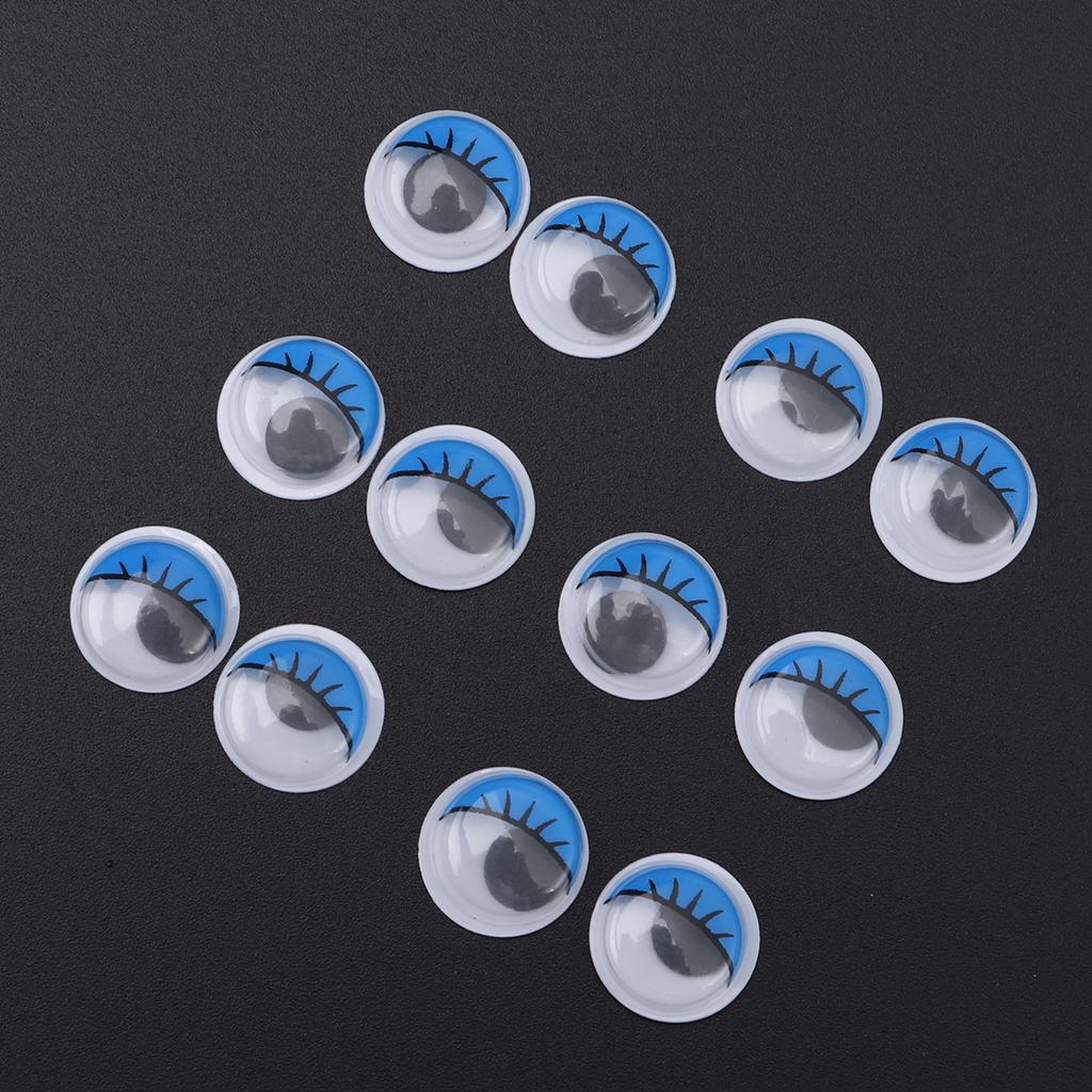 100 Pcs Diameter 5mm Wiggle Eyes Craft Eyes Goggle Eyes