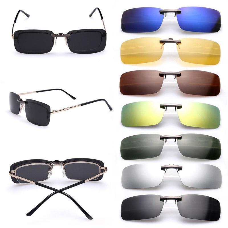 Herren Damen polarisierte Tag Nachtsicht Objektiv Brille Sonnenbrille Mode SIM aufstecken