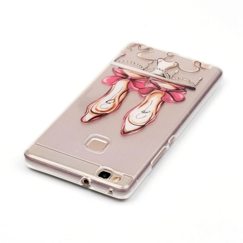 Case for Huawei P9 Lite Red High Heel Pattern IMD Workmanship Soft TPU Protective Case