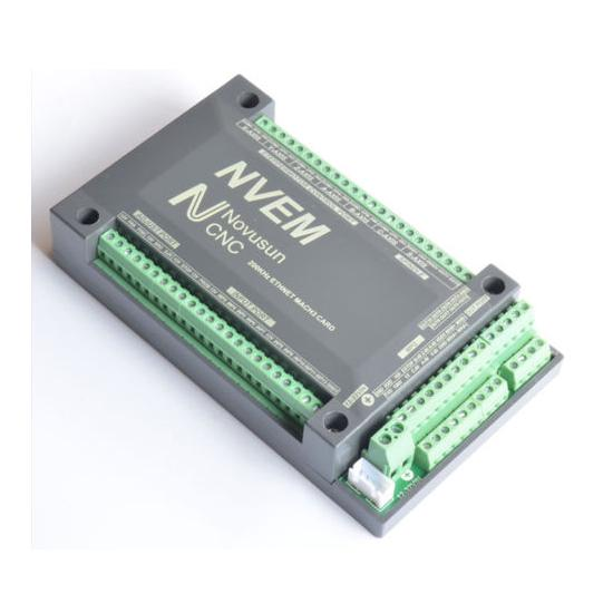 Ethernet MACH3 Motion Control Card with CNC Controller 1PCS NVEM CNC Controller 6 Axis MACH3 Ethernet Interface Motion Control Card Board Spindle PWM Output Control for Machine Tool Systems