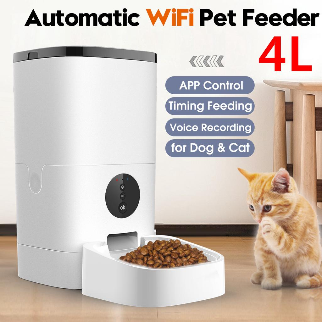 Wifi Button 4l 6l Automatic Pet Feeder App Control Voice Recording Timing Feeding With Phone Control Wifi Connect Buy At A Low Prices On Joom E Commerce Platform