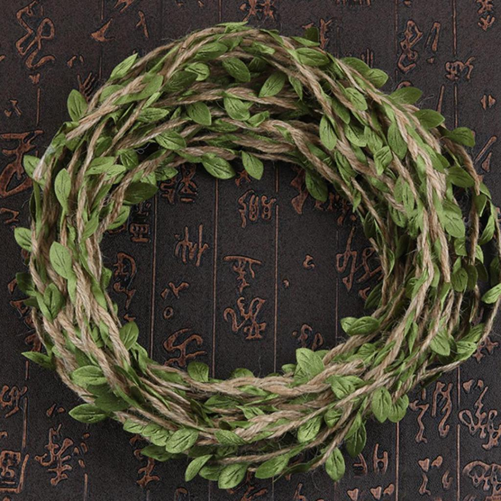 New 10m Leaf Natural Hessian Jute Twine Rope Burlap Ribbon DIY Craft Home Decor