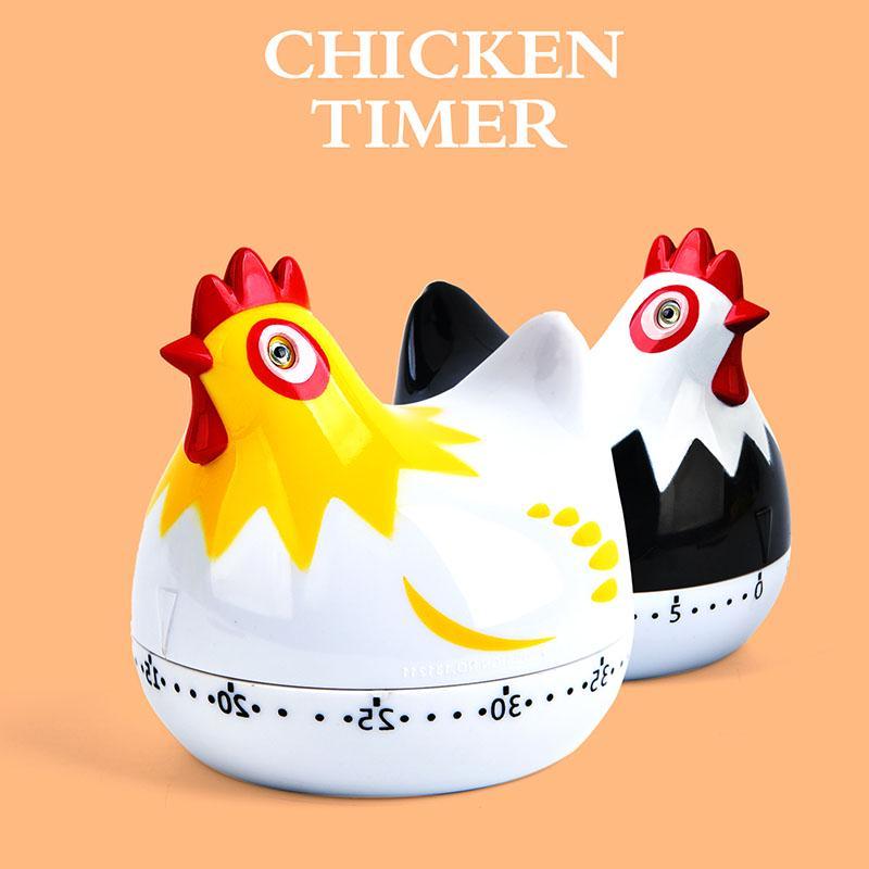 Cute Hen Timer 60 Minute Chicken Model Kitchen Cooking Timer Mechanical Tool New