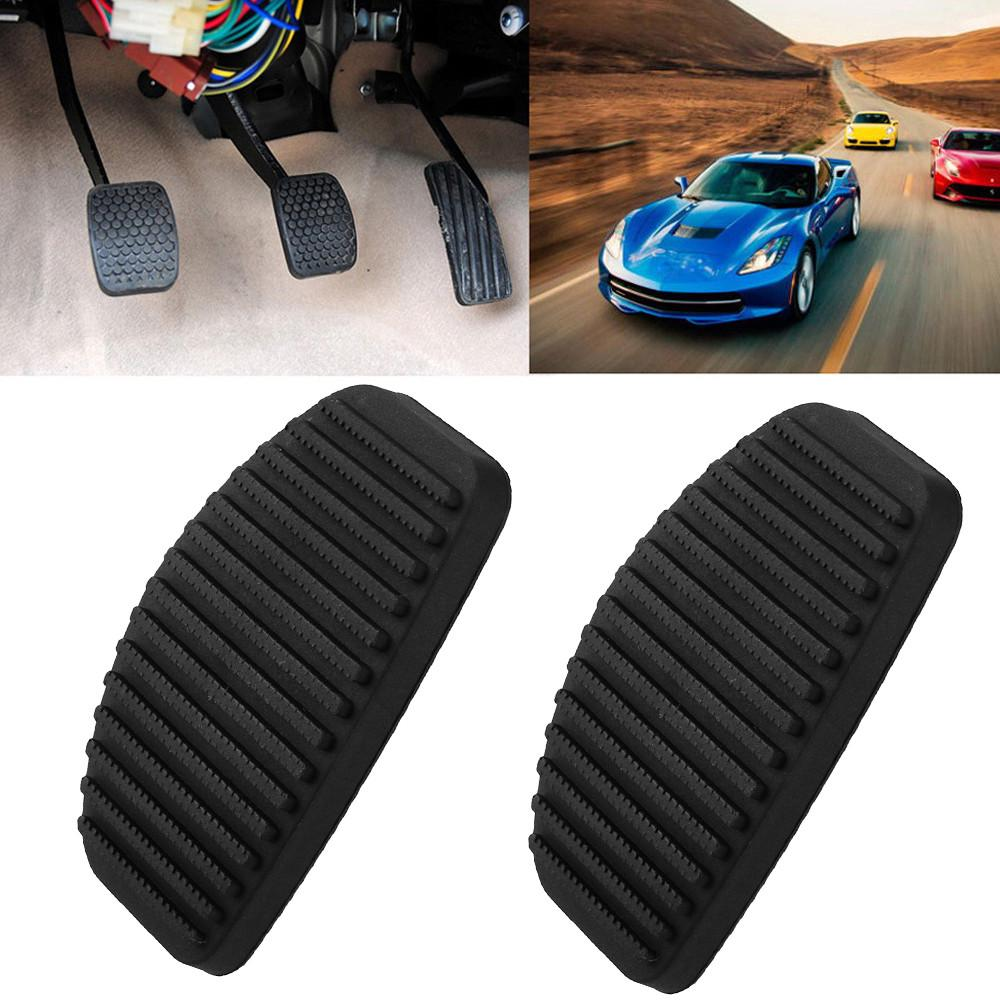 Cubierta del pedal del embrague del freno almohadilla de goma del pedal del freno 2pcs para MASTER CLIO LAGUNA SAFRANE 7700800426 negro
