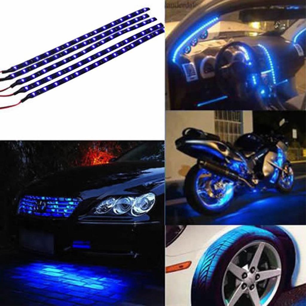 30cm 3528smd 15led flexible ribbon strip light car auto waterproof motor 12v