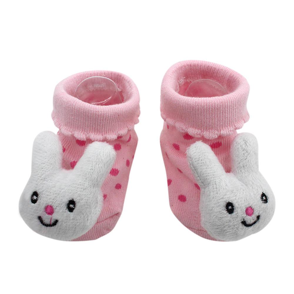 Bébé Nouveau-né Bébé Fille Mignon Anti-Dérapant Chaussettes Soft Slipper Semelle Chaussures Prewalker