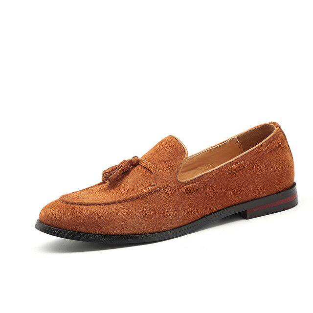 Details about  /Men Leather Color Stitching Business Formal Sllip On Wedding Party Shoes Loafers