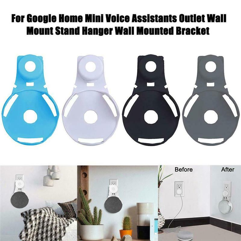 1 PC Outlet Wall Mount Compact Hanger Holder Stand Grip for Google Home Mini