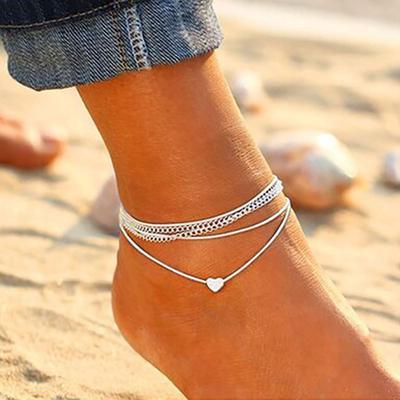 Summer Vintage Boho Bracelet Chaîne de pied Bracelet de Plage Femmes Filles cadeaux