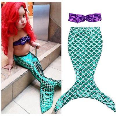 4f880a98b8534c Dzieci dzieci dziewczynek mały ogon syrena lato strój kąpielowy kostium kąpielowy  strój kąpielowy bikini