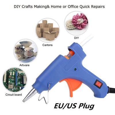 20W 110V Professional Mini Electric Heating Hot Melt Glue Gun US Plug