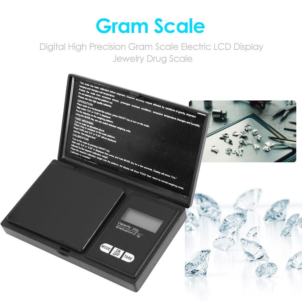 Digital 500g High Precision Gram Scale Electric LCD Display Scale Jewelry Drug
