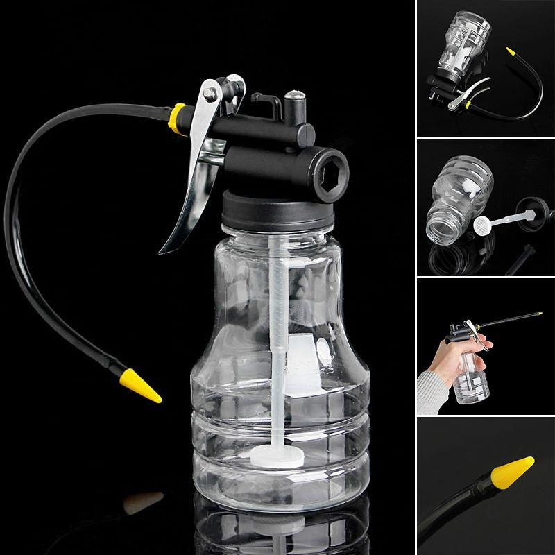 250cc Transparent High Pressure Pump Oiler Lubrication Oil Can Plastic Machine O