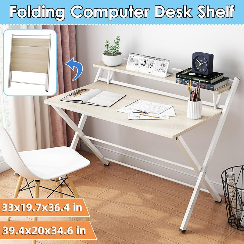 Portable Office Computer Desk Wooden, Portable Folding Computer Desk Laptop Table Workstation Furniture