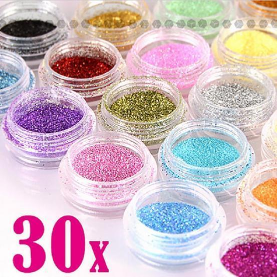 30 цветов блёсток для ногтевого Арт Декора – купить по низким ценам в интернет-магазине Joom