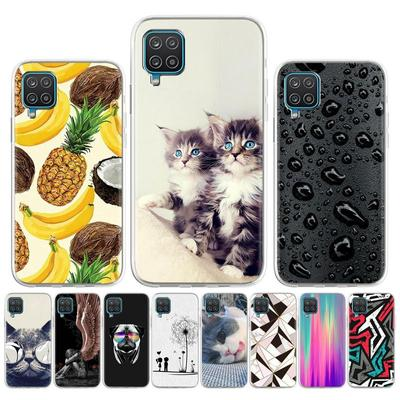 Soft Case for Samsung A12 Case Silicone for Samsung Galaxy A12 Cover Cute Cat Animal Flowers Patterned Shock-Proof TPU Phone Bumper