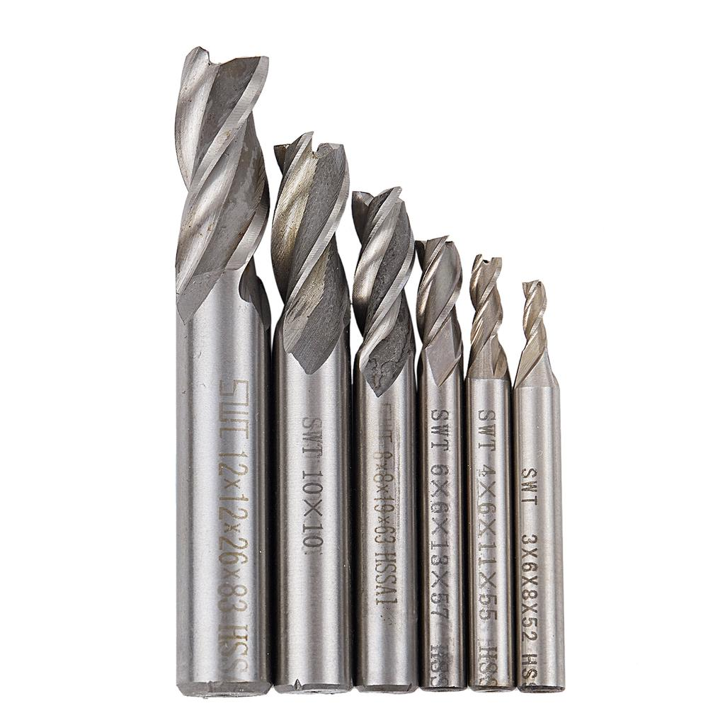 HSS-AL Straight Shank 4 Flute Super Tough Metal End Processing Mill Cutter Drill