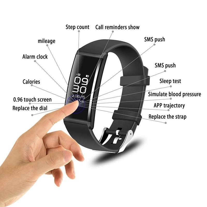 Sports watches heart rate blood pressure oxygen wristband fitness smartband  van xiaomi