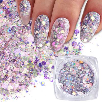 6Boxs Nail Glitter Flakes Sparkly 3D Colorful Sequins Spangles Polish  Manicure Nails Art Decorations-buy at a low prices on Joom e-commerce  platform