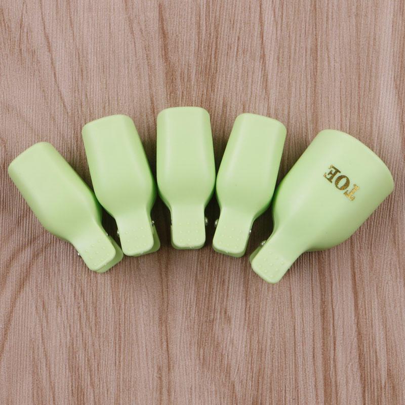 Pies plásticos 5pcs Nail Art Soak Off Clip Cap Gel UV Polaco ...
