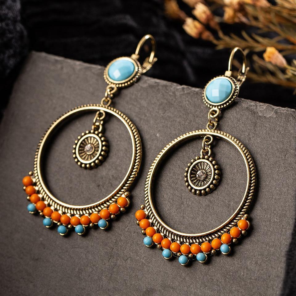 Gift for valentine/'sday Gift for women. Ethnic earrings silver Geometric Fan hanging handmade.Valentine/'sday gift