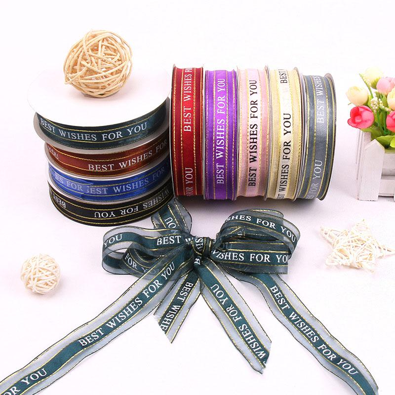 Diy Decorative Stickers Wrapping Ribbon Adhesive Scrapbooking Party Fitting W
